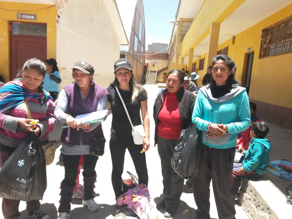 Socias de Bankomunales en Bolivia