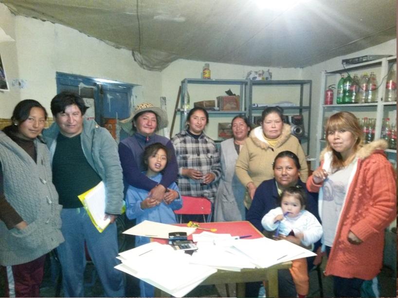 Reunion de socios de Bankomunales en Bolivia.