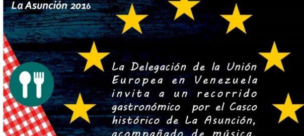 "Flyer del paseo gastronomico ""Dia de Europa"""